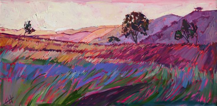 """Touch of Morning"" Original oil painting by Erin Hanson"