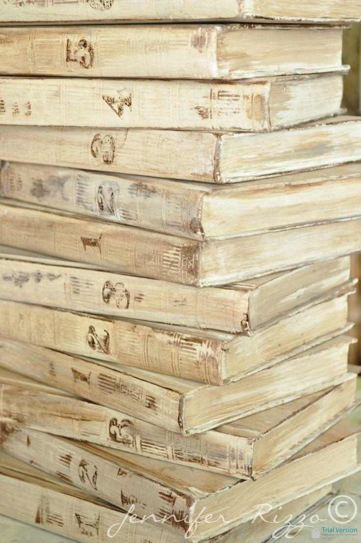 Jennifer Rizzo: Repurpose old encyclopedia's into aged display books..... BRILLIANT!