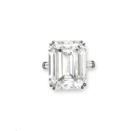 A 23.89-carat rectangular-cut diamond