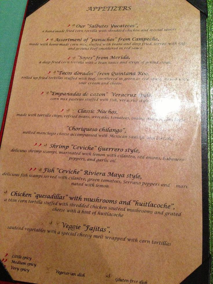 Valentin Imperial Maya Menus Foodie Snob Pinterest