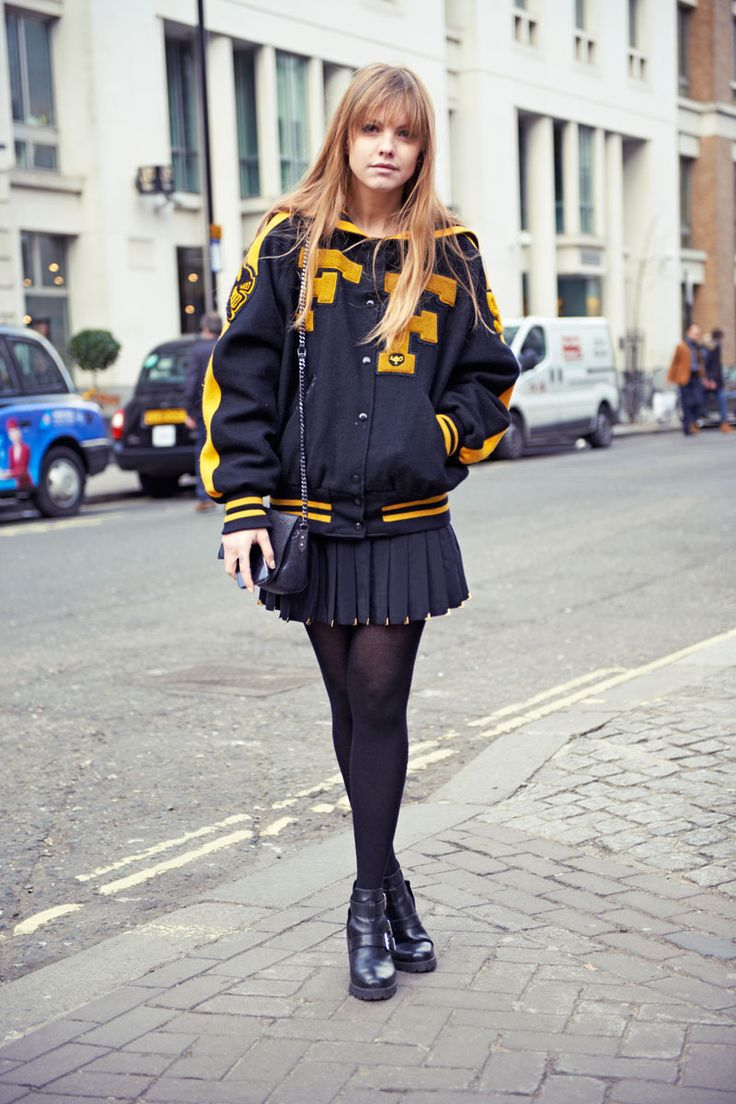 Love this sporty street-style for the Big Game. #BGWarmUp