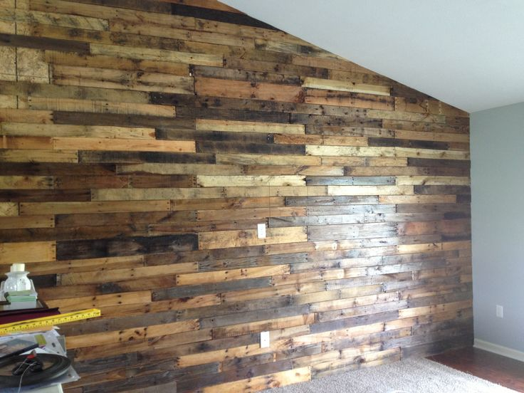 pallet board wall in my living room kitchen pinterest on pallet wall id=68862