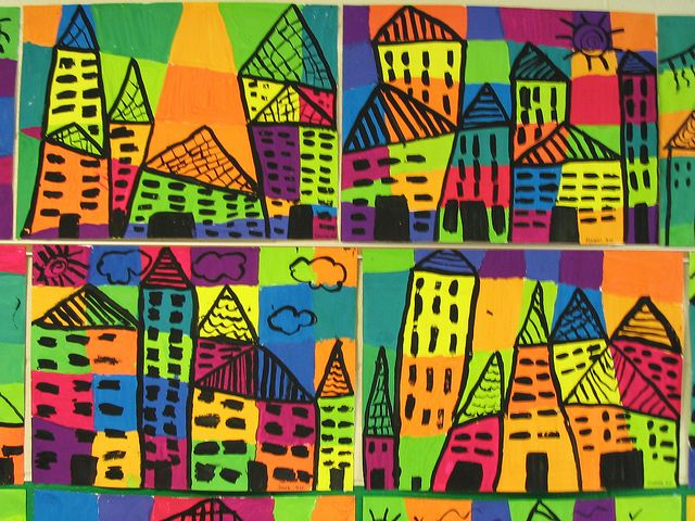 3rd grade....ton schulten cities.. love the colors