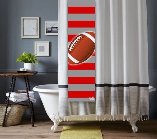 Custom Football Shower Tag for Shower Curtain Bathroom Decoration NFL College | eBay