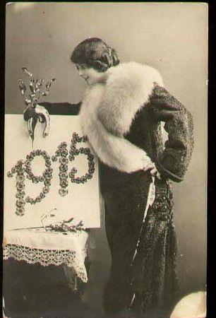 Vintage 1915 New Year Postcard