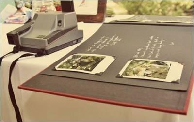 libro de firmas boda polaroid