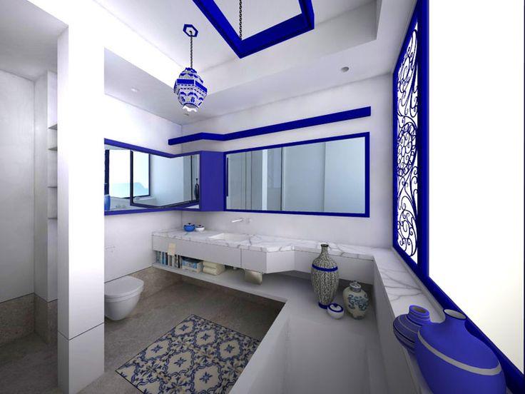 Niebieska łazienka – jak urządzić? Inspiracje i pomysły na niebieską łazienkę.  Moukka ...