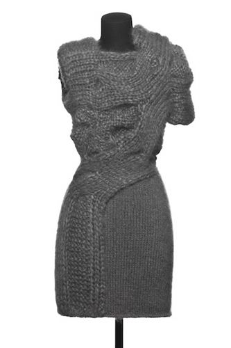 Sandra Backlund Multi Texture Knit Dress From 'FW11' Collection - Pintrest