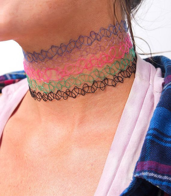 90's chokers. i used to have a blue one and wore it all the time