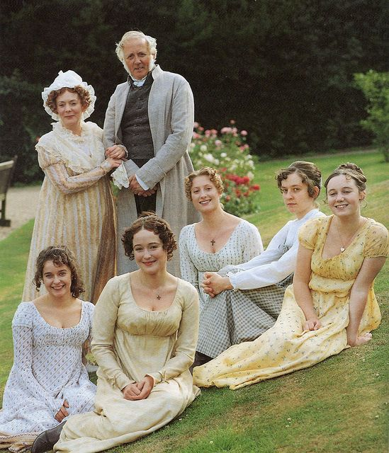 """Pride and prejudice    The Bennet family from the B.B.C's 1995 adaptation of Jane Austen's """"Pride and prejudice""""."""
