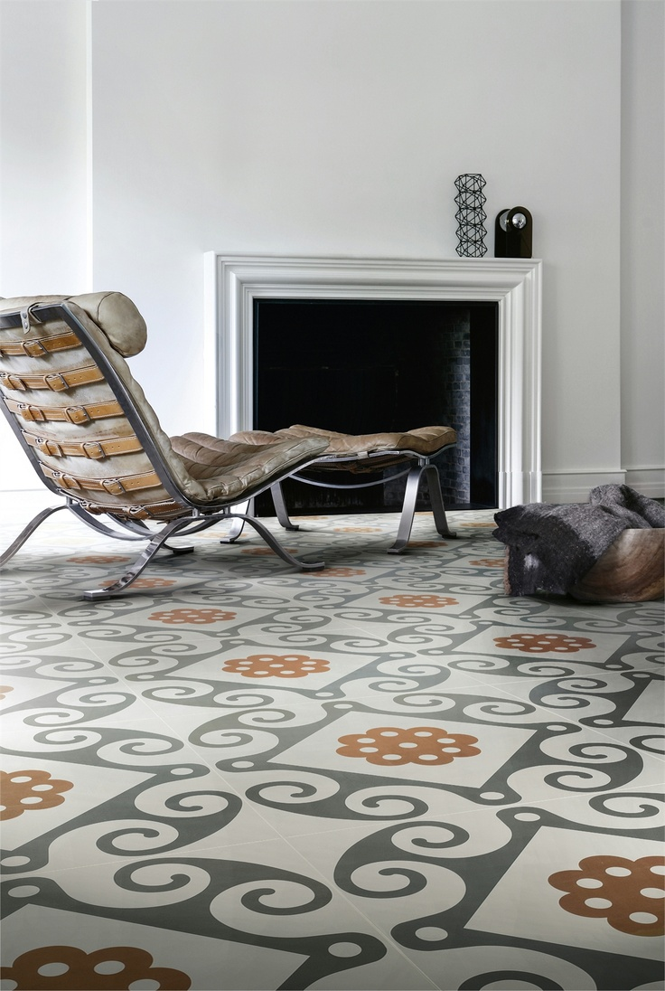 Ceramic #floor tiles FRAME by Ceramiche Refin #fireplace #interiors
