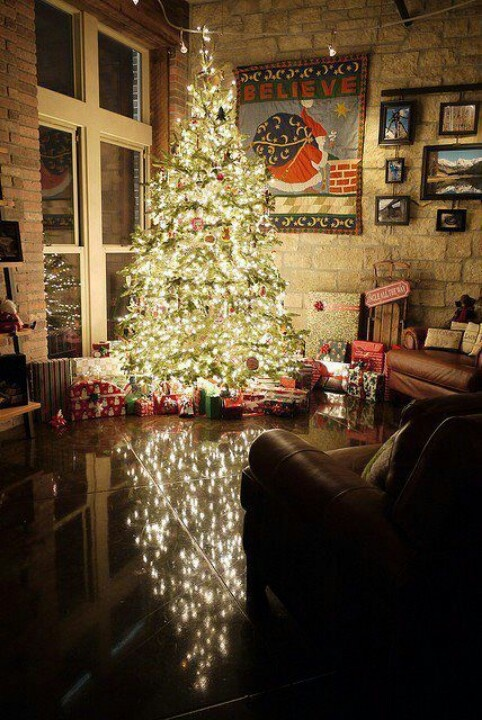 I need a room in my house exactly like this so I can decorate it for Christmas