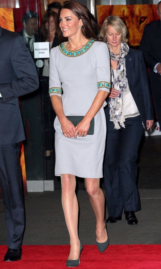 Kate Middleton Hit London Wearing A Dress By Brit Fashion Designer Matthew Williamson, 2012