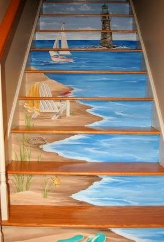 I love painting stairs like this!