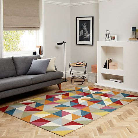 Multicolour chevron rug