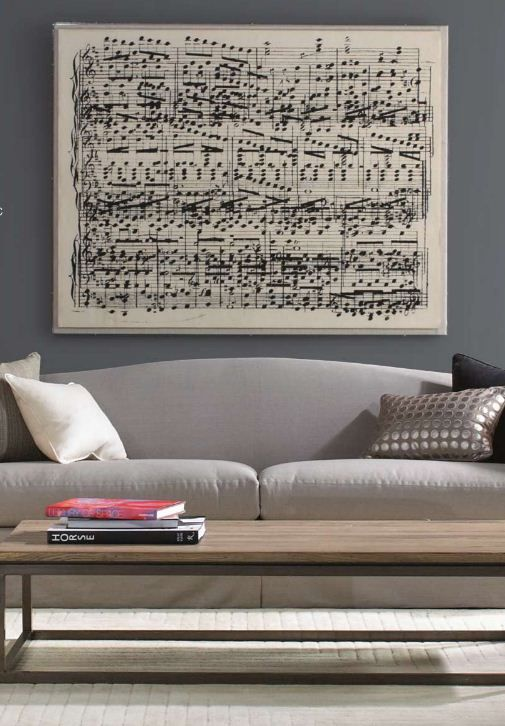 Take your favorite song and create an oversized sheet music print. (Love this!)