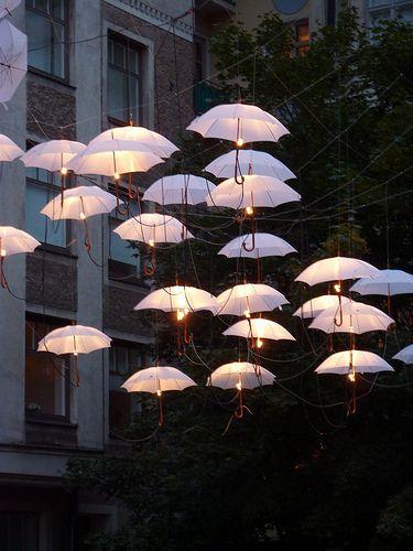 Umbrellas of light