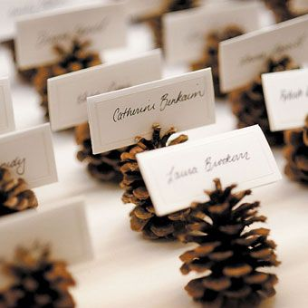 Personalized pinecones—easy & fun.