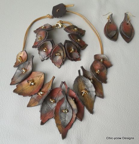autumn leaf  jewellery