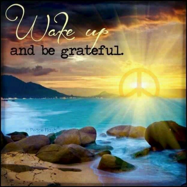 Wake up and be Grateful!