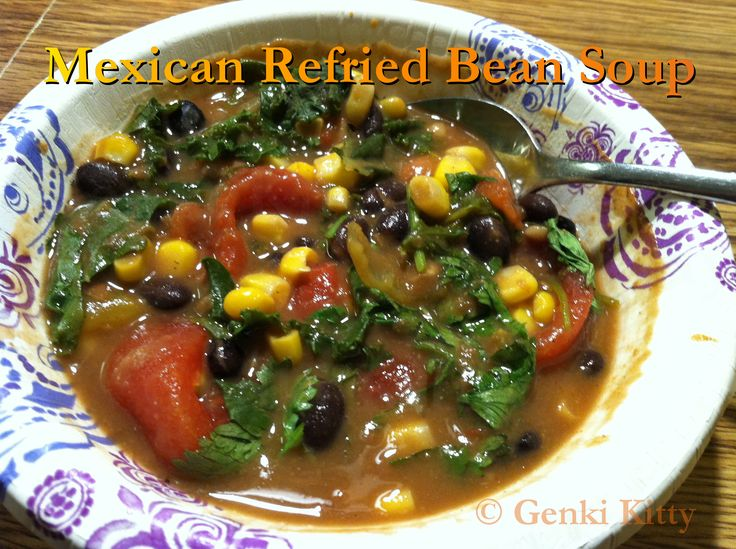 Mexican Refried Bean Soup Recipe Vegan