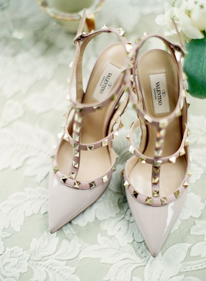 #valentino spiked #shoe love  Photography: Stacy Able - stacyable.com  Read More: http://stylemepretty.com/2013/10/22/downton-abby-styled-shoot-from-stacy-able/