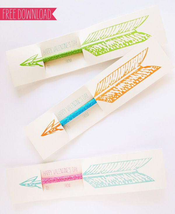 Cupids arrow pencil valentines