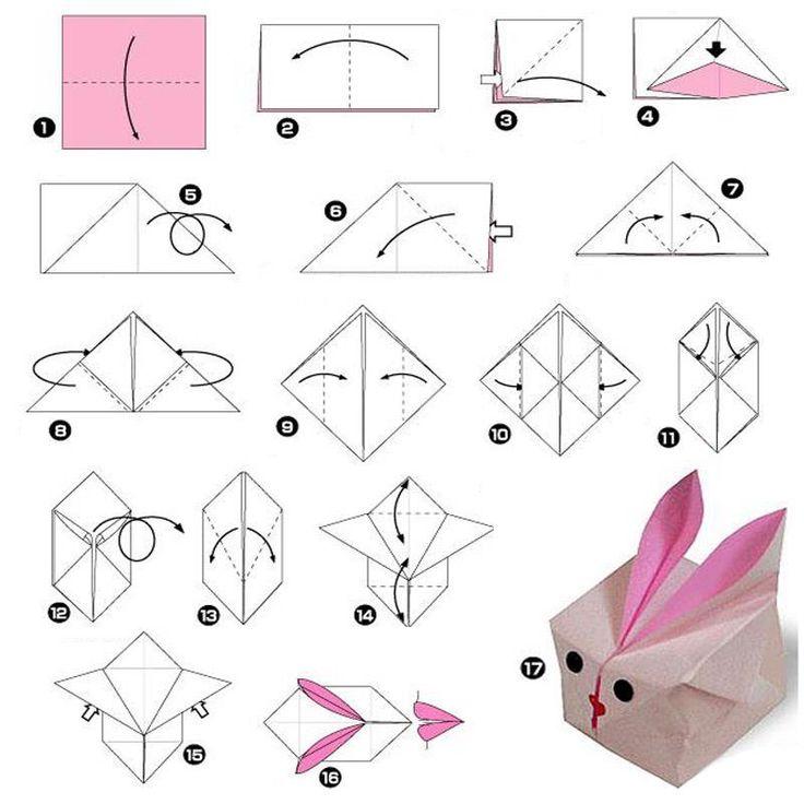 bunny origami   Easter ideas   Pinterest