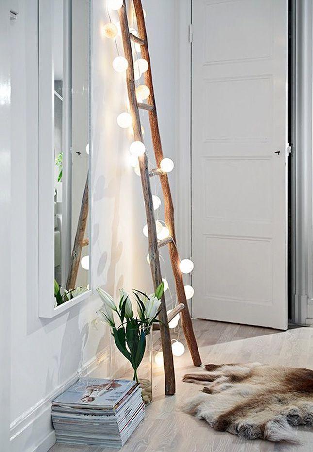 String up some strands of light on a ladder. Best nightlight ever.