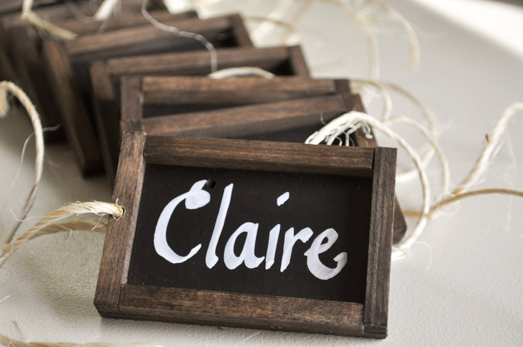 Chalkboard Place Card Napkin Holders- for Wedding or Dinner Party Set ...