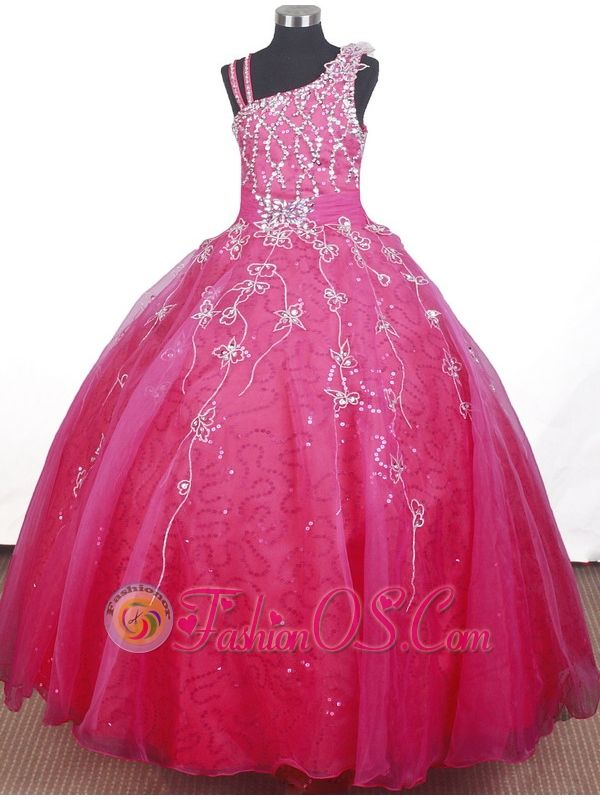 Brand new Beading Hand Made Flowers Ball Gown Strap Floor-length Little Girl Pageant Dress- $167.49  www.fashionos.com    --wow :D
