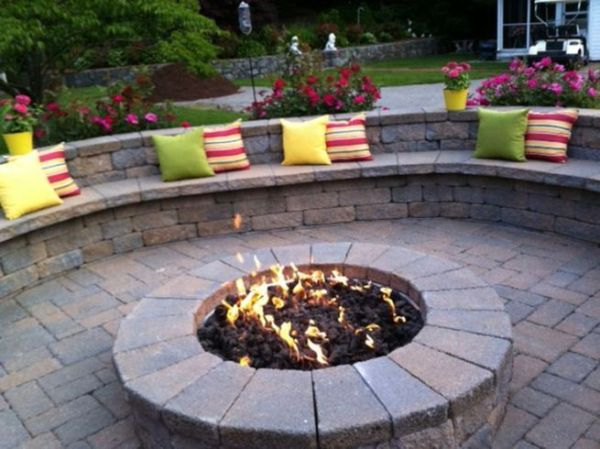 paver patio with fire pit design ideas Paver Patio Designs With Fire Pit | Landscape Ideas