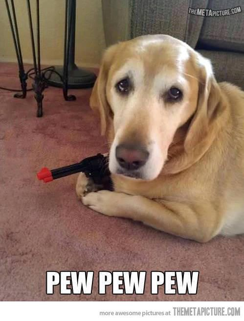 """You just made """"Pew, pew, pew"""" sound effects, don't deny it."""