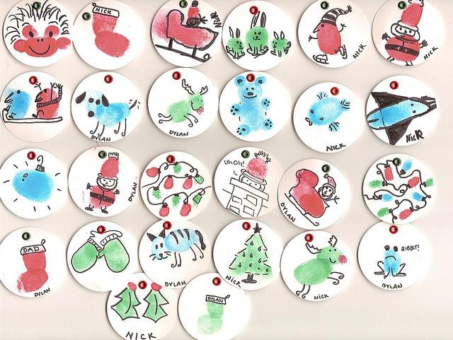Thumbprint Ornaments Craftsholidays Pinterest