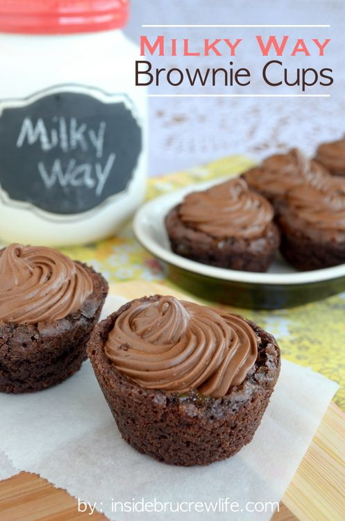 Milky Way Brownie Cups