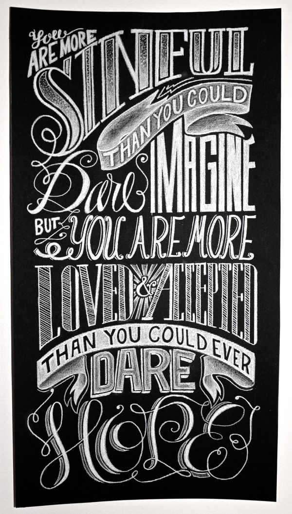 Hand Lettering Poster by Katherine Rainey, via Behance----Only The Good Die Young = P graphics