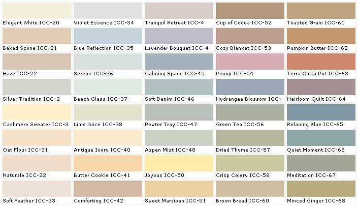 behr green tea color chart paint colors pinterest on behr paint chart id=77204