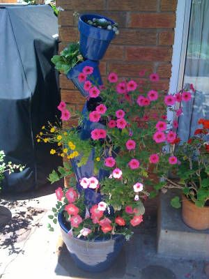 Beautiful pots to contrast the flowers! The Amazing Plant ... on Amazing Plant Stand Ideas  id=52715