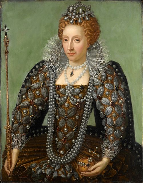 Queen Elizabeth I by Unknown artist, early 17th century with 18th century overpainting. ©National Portrait Gallery, London.