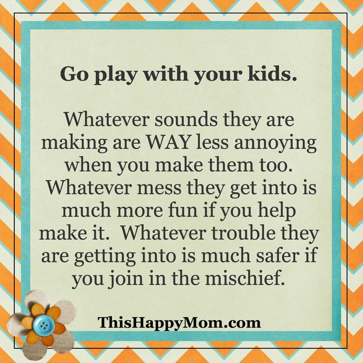 Go play with your kids.  Whatever sounds they are making are WAY less annoying when you make them too.  Whatever mess they get into is much more fun if you help make it.  Whatever trouble they are getting into is much safer if you join in the mischief.