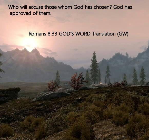 Romans 8.33 GOD'S WORD Translation (GW)