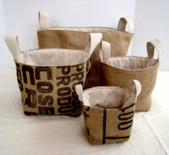 Pattern, but it's $10. However, it doesn't look that complicated, I love the recycled hessian.