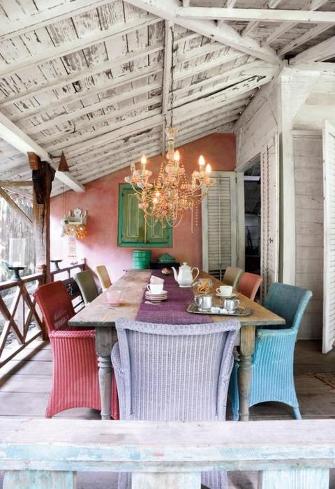 outdoor dining room on the back porch