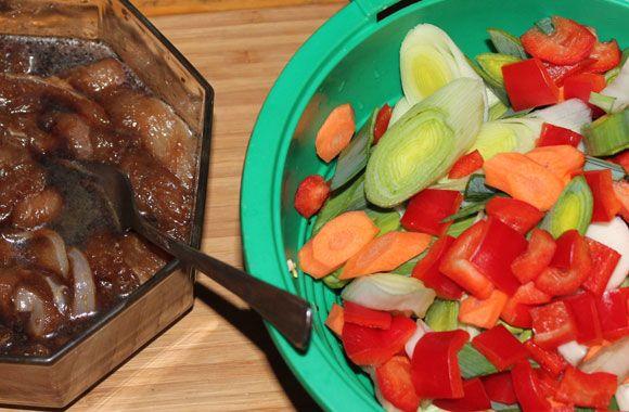 Zutaten für Chop Suey