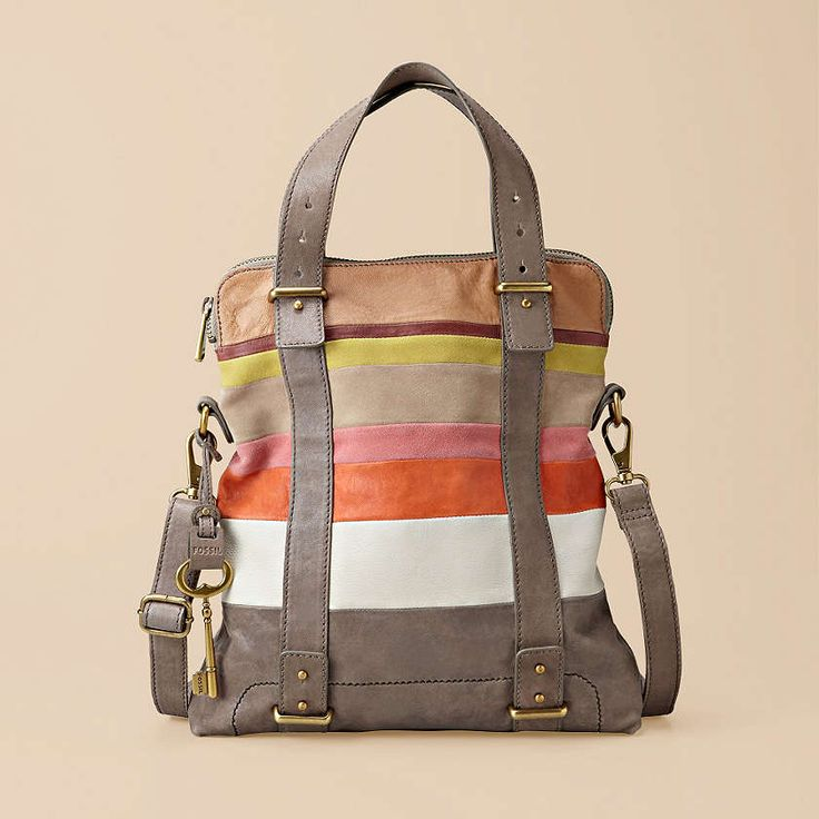 Color blocking? Check. Soft leather? Check. Vintage details? Check. Our Mason collection takes laid-back chic to a new level (and we can't get enough). #Fossil #ColorBlocking