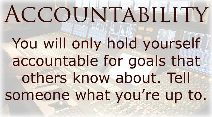 how to keep yourself accountable