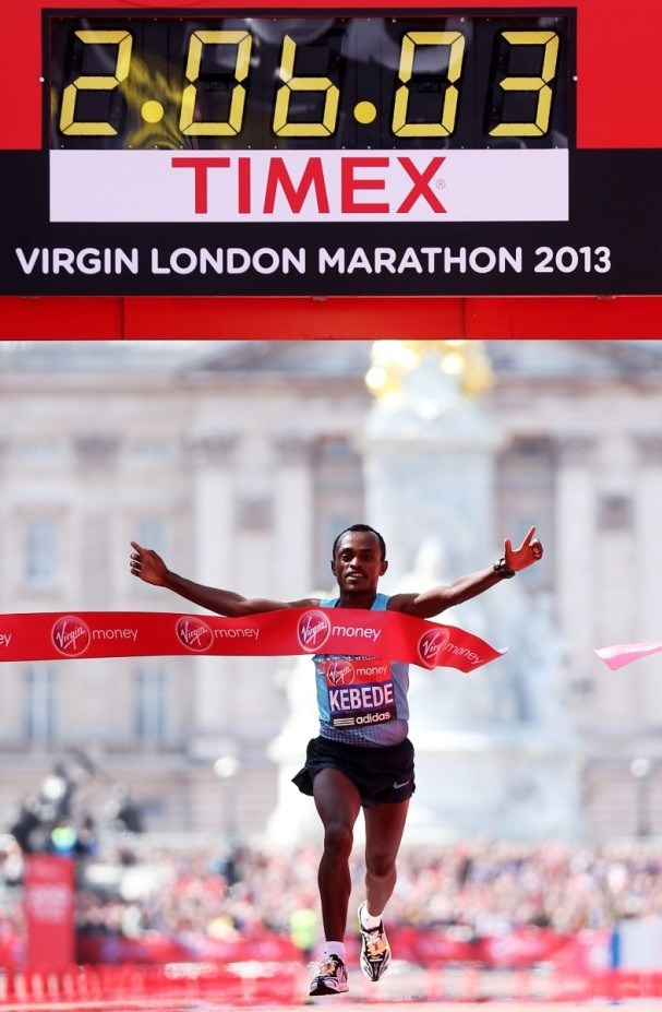 Olympian. World great athlete Virgin London Marathon 2013 men's race winner: Oromo Athlete Tsegaye Kebede Hordofa http://metro.co.uk/2013/04/21/london-marathon-david-weir-finishes-down-in-fifth-place-as-mo-farah-completes-his-half-3660432/