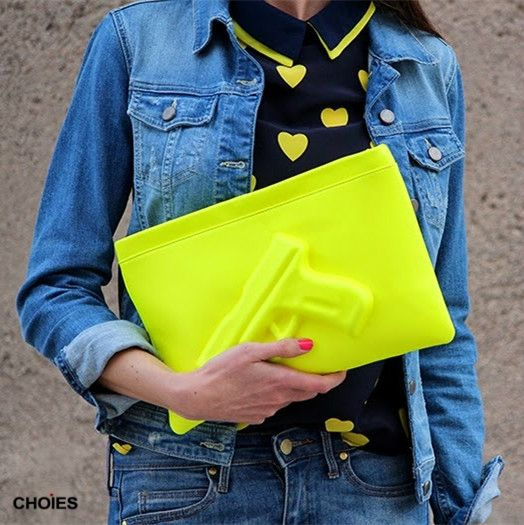 Yellow Limited Edition Pistol Clutches | Choies