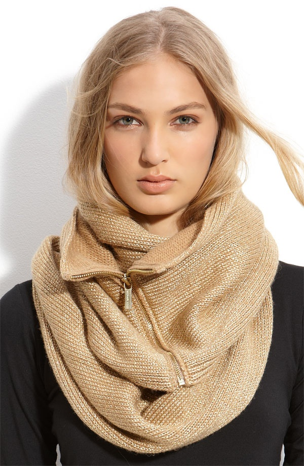love the scarf...also love that she has @Brooke Polivka 's face