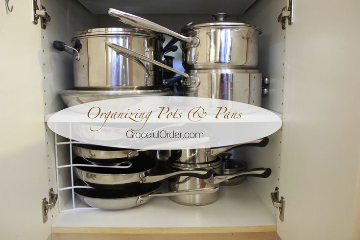 great ideas for organizing pots and pans organizing pinterest on kitchen organization pots and pans id=79161